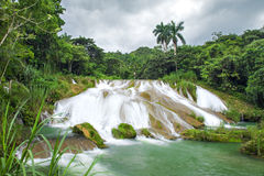 Beautiful El Nicho waterfall Cuba Royalty Free Stock Images