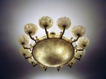 Beautiful and elaborate lamp. An elegant lamp that illuminates the dark night Stock Images