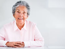 Beautiful elder woman Stock Photo