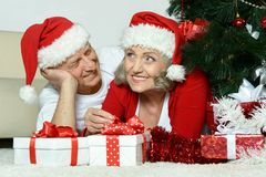 Beautiful elderly couple Stock Photography