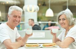 Beautiful elderly couple Stock Photos