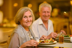 Beautiful elderly couple Stock Photo
