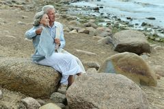 Beautiful elderly couple Royalty Free Stock Photos