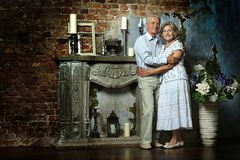 Beautiful elderly couple Stock Image