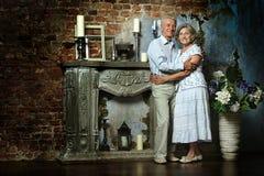 Beautiful elderly couple Stock Image