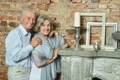 Beautiful elderly couple Stock Photos