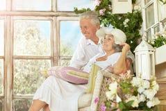Beautiful elderly couple Stock Photography