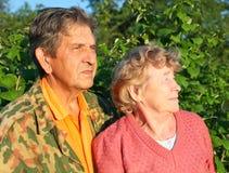 Beautiful elderly happy couple stock photography