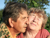 Beautiful elderly happy couple stock image