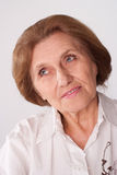 Beautiful elderly woman Stock Photos