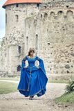 Beautiful Eleanor of Aquitaine, duchess and queen of England and France on High Middle Ages. Mother of Richard the Lionheart stock image