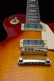 Beautiful Electric Guitar. A closeup of the craftmanship of this beautiful electric guitar Stock Photo