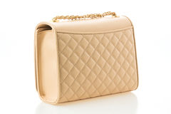 Beautiful elegance and luxury fashion women bag. Isolated on white background Royalty Free Stock Images