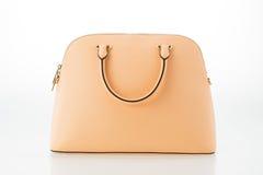 Beautiful elegance and luxury fashion women bag. On white background Stock Photography