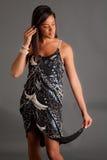 Beautiful, Elegant Black Woman in Dress Stock Photos