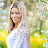 Beautiful elegant blonde woman. Close up Stock Photos