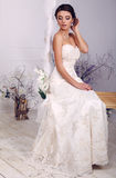 Beautiful elegant bride in wedding dress posing at studio Stock Photography