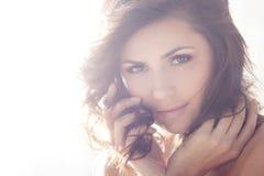 Beautiful elegant brunette Stock Image