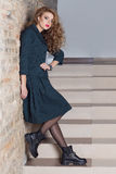 Beautiful elegant business woman suit fashion photo shooting for clothing catalog Stock Photo