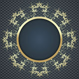 Beautiful elegant card background with gold pattern Royalty Free Stock Photography