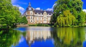 Great castles of Loire Valley, elegant Chateau de Serr Stock Image