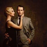 Beautiful elegant couple Stock Photos