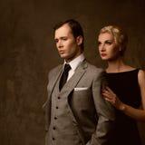 Beautiful elegant couple Stock Images