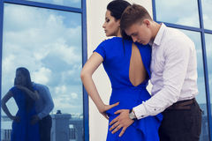 Beautiful elegant couple Stock Photos