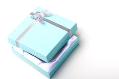 Beautiful elegant empty jewelry gift box open top Royalty Free Stock Images