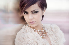 Beautiful elegant fashion model Stock Image