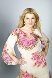 Beautiful elegant fashion model in a dress Stock Photo