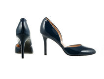 Beautiful and elegant female shoes. Royalty Free Stock Photos