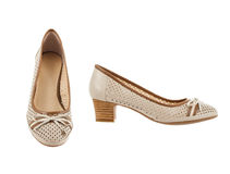 Beautiful and elegant female shoes. Royalty Free Stock Image