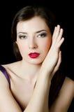 Beautiful elegant girl with an evening make-up Stock Photos
