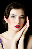 Beautiful elegant girl with an evening make-up Royalty Free Stock Image