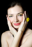 Beautiful elegant girl with an evening make-up Royalty Free Stock Photo