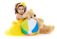 Beautiful elegant girl in yellow fashion dress Royalty Free Stock Photography