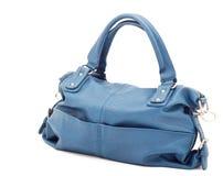 Beautiful elegant ladies handbag blue Royalty Free Stock Image