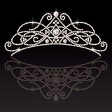 Beautiful elegant luxury feminine tiara. Royalty Free Stock Image