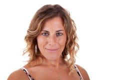 Beautiful and elegant mature woman Stock Photos