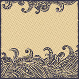 Beautiful elegant paisley ornamental frame Royalty Free Stock Photos