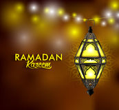 Beautiful Elegant Ramadan Kareem Lantern or Fanous Royalty Free Stock Images