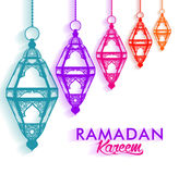 Beautiful Elegant Ramadan Mubarak Lanterns Stock Photos