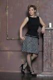 Beautiful elegant slim woman Royalty Free Stock Images