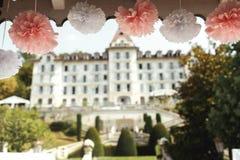 Beautiful elegant and stylish pink wedding decoration at arbor h Royalty Free Stock Photography