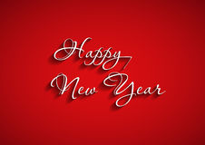 Beautiful elegant text design of happy new year Stock Photos