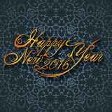 Beautiful elegant text design of happy new year. vector illustration.  Stock Photography