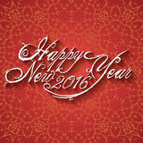 Beautiful elegant text design of happy new year. vector illustration 2016.  Stock Images