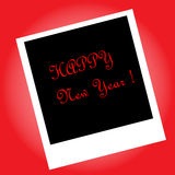 Beautiful elegant text design of happy new year. vector illustration. Design of happy new year. vector illustration Royalty Free Stock Photography