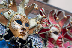 Beautiful elegant venetian carnival mask in Venice, Italy Stock Images
